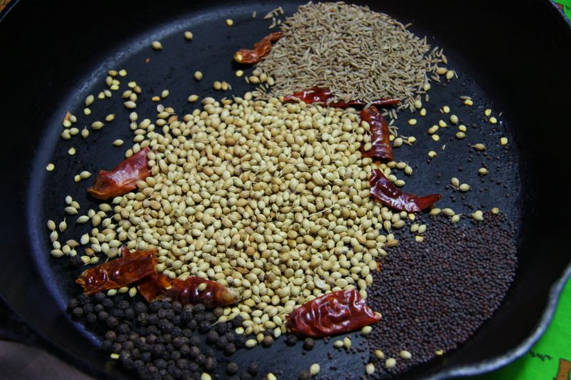 Toasting curry spices