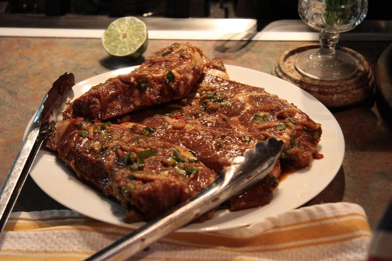 Jeyook kalbi marinated