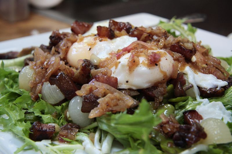 Frisee salad with guanciale